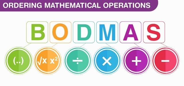 math order of operations bodmas mathematics equation solving pemdas formula