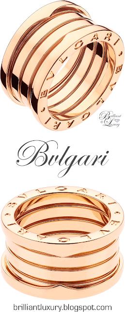 Bvlgari B.zero1 4-band 18 k ring in rose gold #jewelry #brilliantluxury