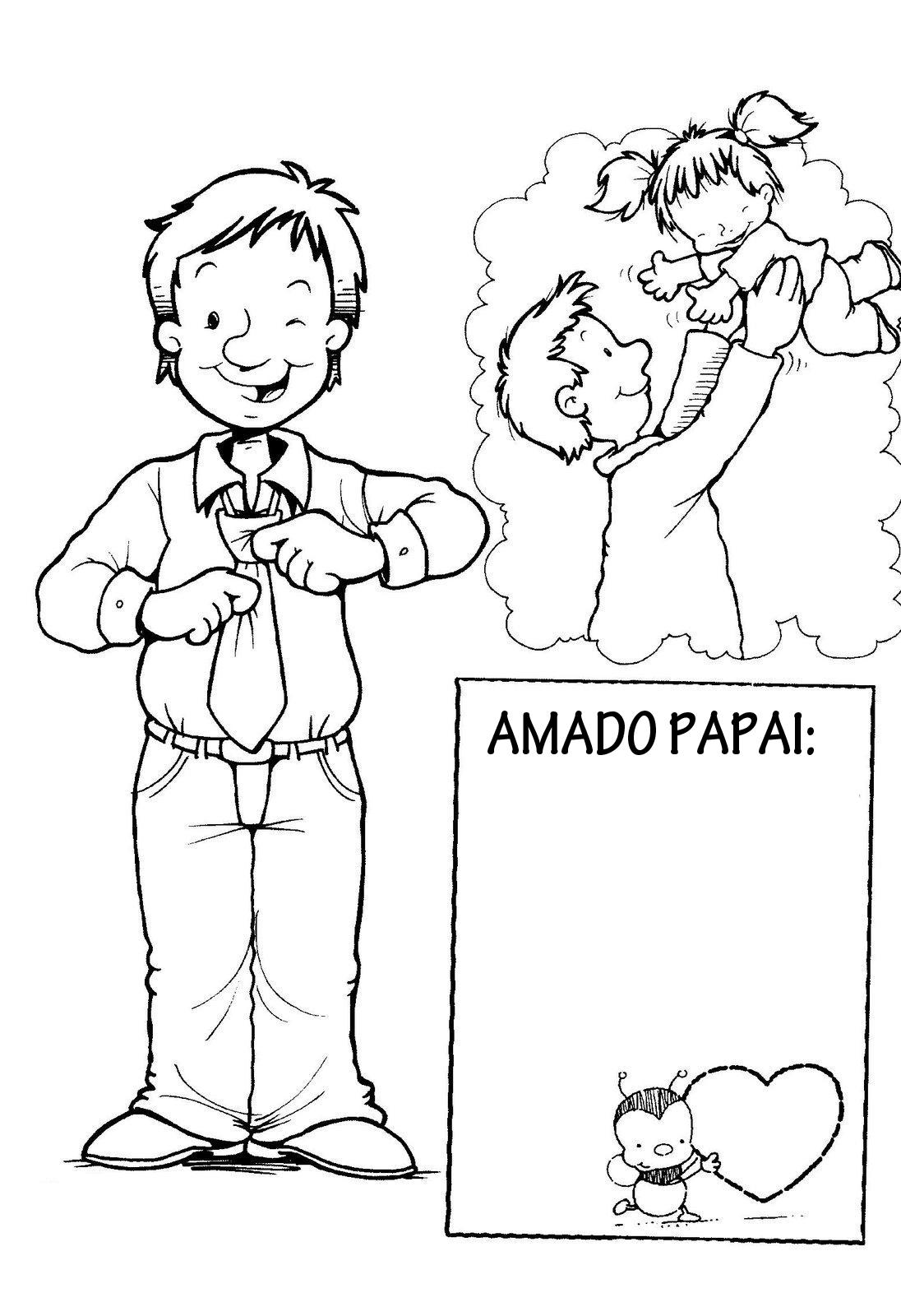Modelos De Cartoes Para O Dia Dos Pais Para Imprimir E Colorir