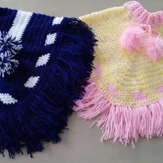 Ponchos Niños a Crochet
