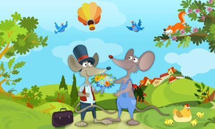 story telling the country mouse and the town mouse