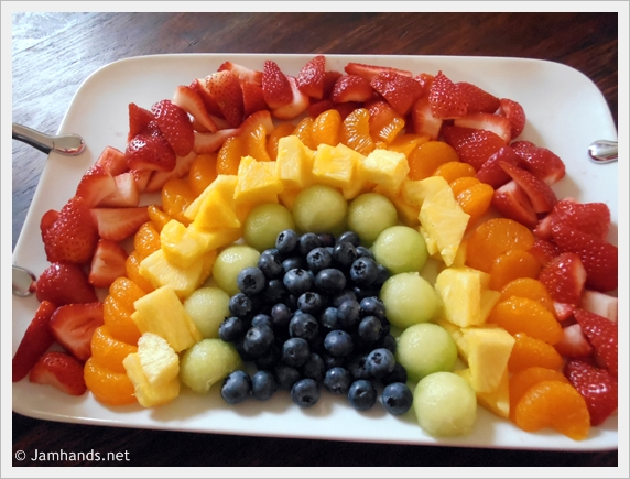 Rainbow Fruit Tray Strawberry Fluff Fruit Dip