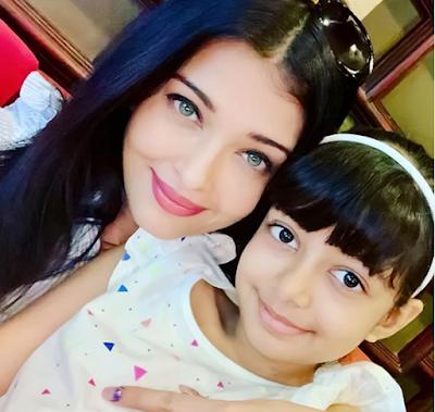 Aishwarya Rai and her Daughter Aaradhya