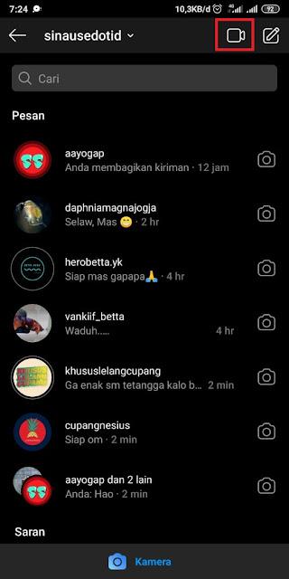 Cara Video Call di Instagram 3