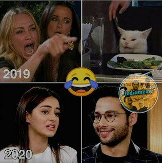 ananya-pandey-siddhanth-chaturvedi-with-cat-meme