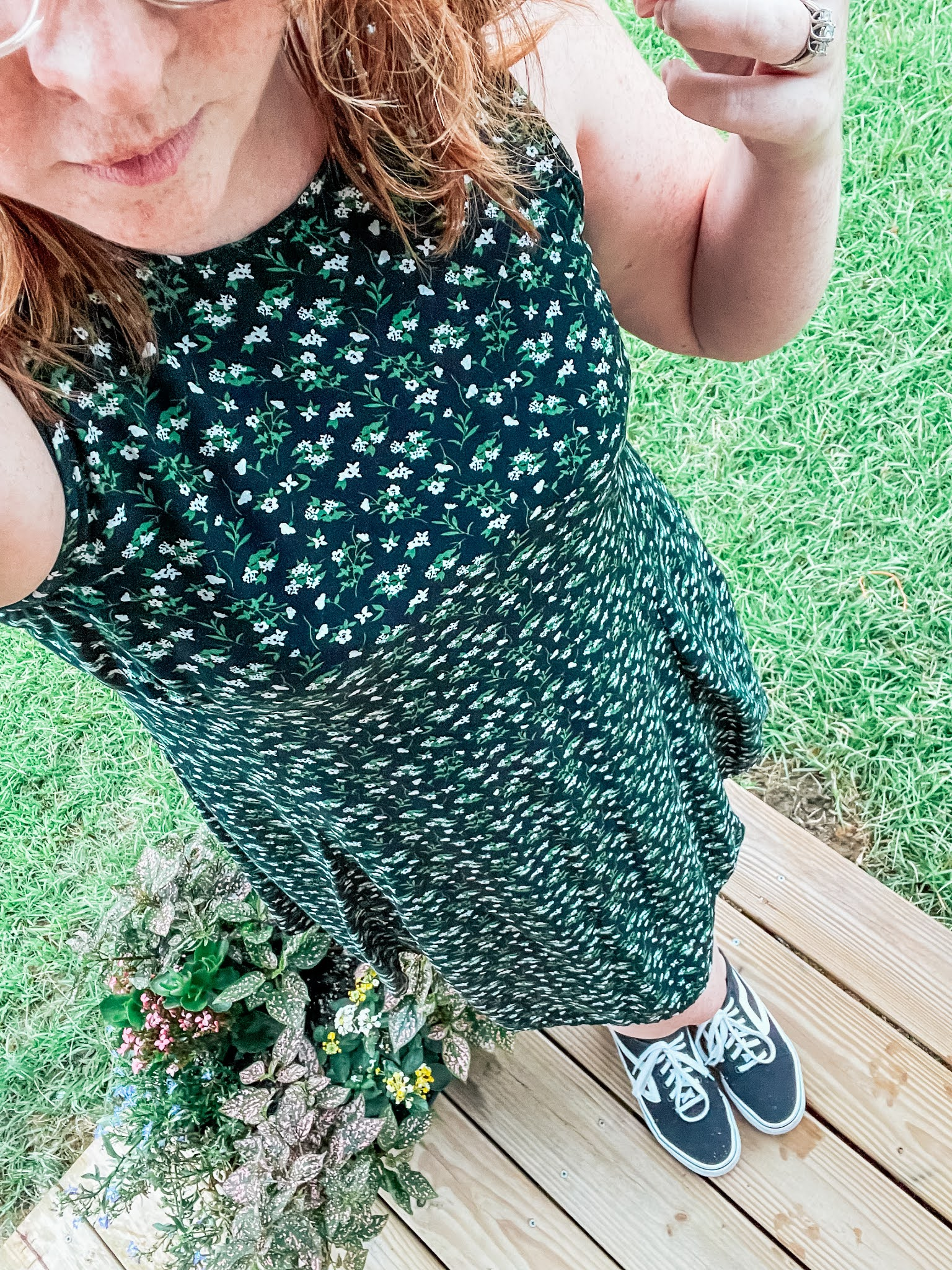 floral-dress-retro-sneakers