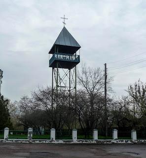 Великие Сорочинцы. Ул. Гоголя. Спасо-Преображенская церковь. Колокольня