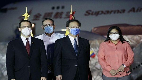 Venezuela recibe ayuda humanitaria procedente de China