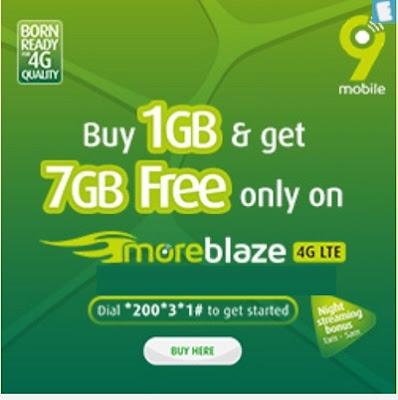 See New 9mobile Offer – Get 7GB Bonus When you buy 1GB Data