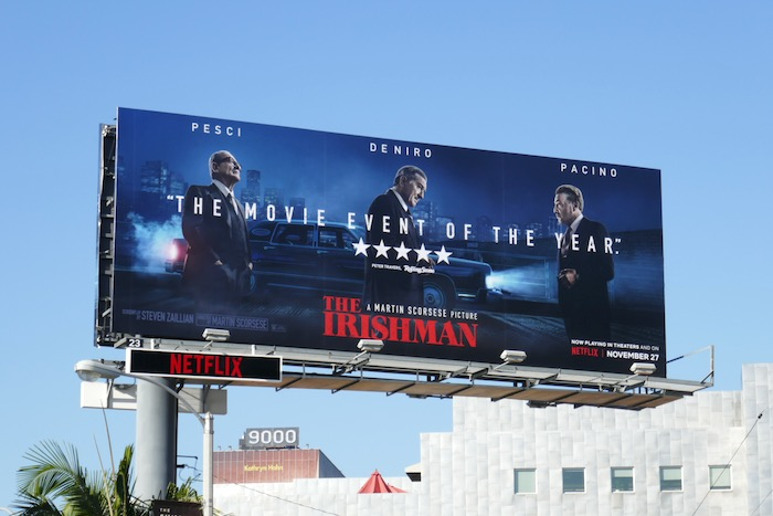 Irishman movie event of year billboard