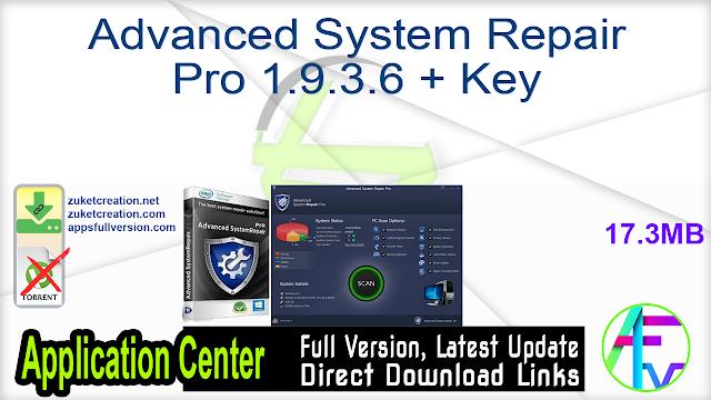 Advanced System Repair Pro 1.9.3.6 + Key