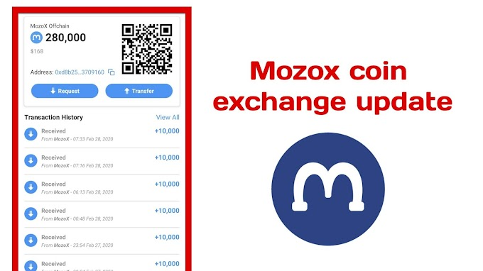 Mozox coin exchange updated ||  Mozo coin exchange