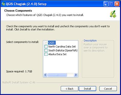 QGIS Installation component