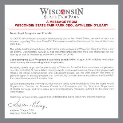 Wisconsin State Fair coronavirus