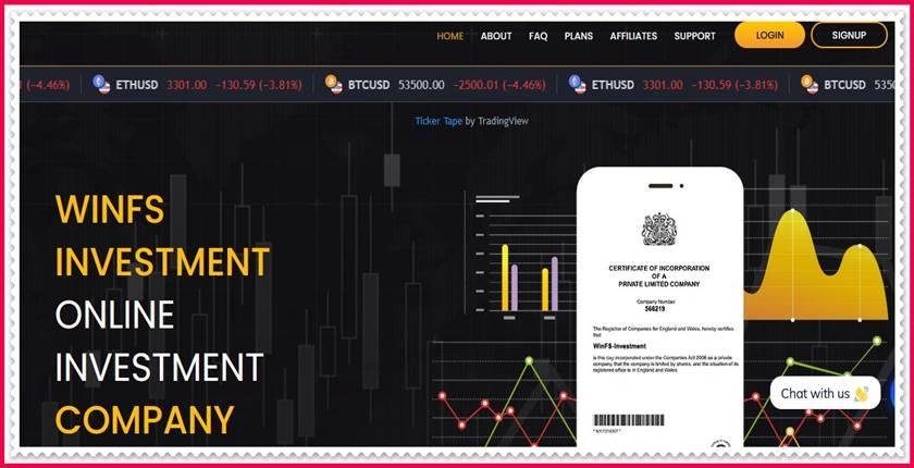Мошеннический сайт winfs-investment.com – Отзывы, развод, платит или лохотрон? Мошенники
