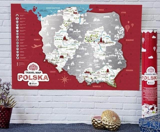 personalizowana mapa dla dzieci, mapa zdrapka polska, europa, świat, mapa do przypinania zdjęć i pinesek, travel map,
