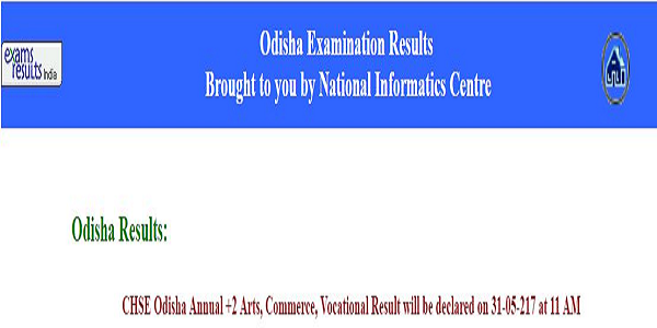 Odisha CHSE +2 arts, Commerce & vocational results 2017