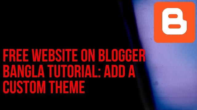 Add a custom theme on blogger