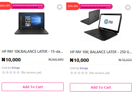 Get a Laptop With Just N10,000 on Konga
