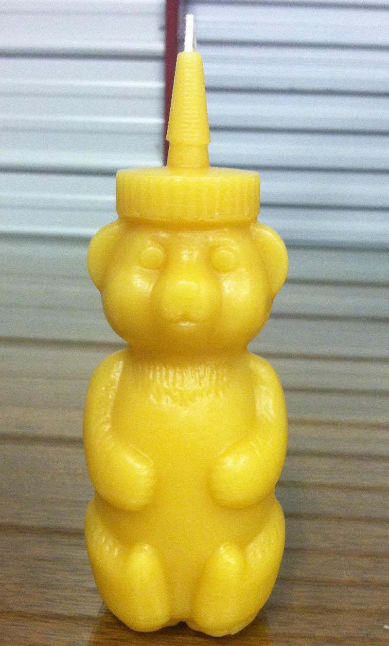 Beeswax Honeybear Candle