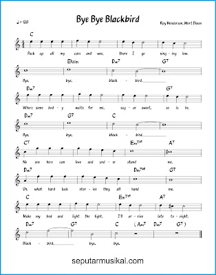 Bye Bye Blackbird chords jazz standar