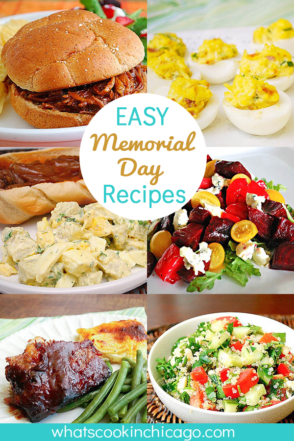 titled photo collage (and shown): Easy Memorial Day Recipes