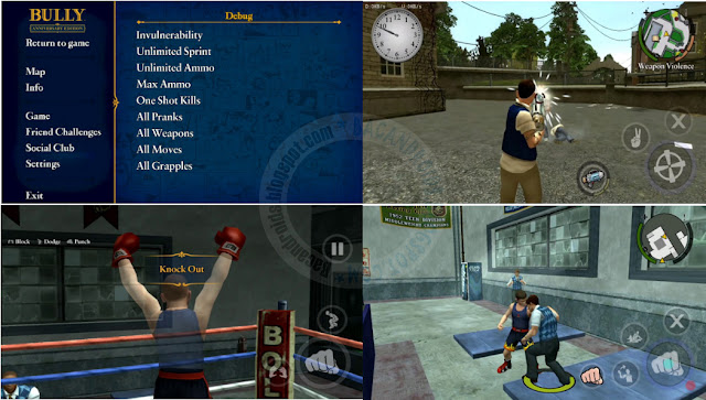 Bully Anniversary edition Apk Pack Cheat Menu Mod