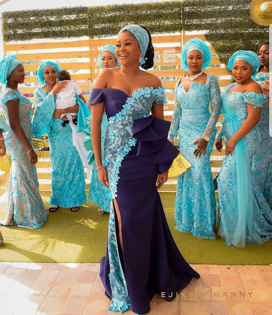 Check Out These Creative Aso Ebi Gowns For Stylish Wedding ...