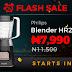 Jumia Black Friday Festival: Philips Blender Flash sale comes up 12:30PM for N7,990