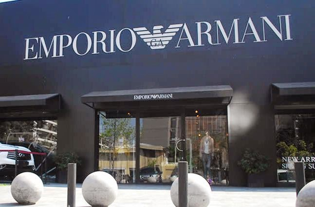 9b6e47776 Armani na Calle Alonso de Córdova