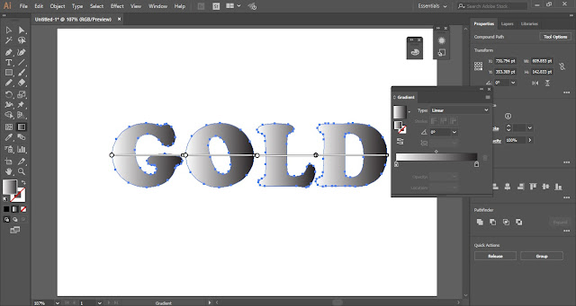 Golden Gradient in Adobe Illustrator