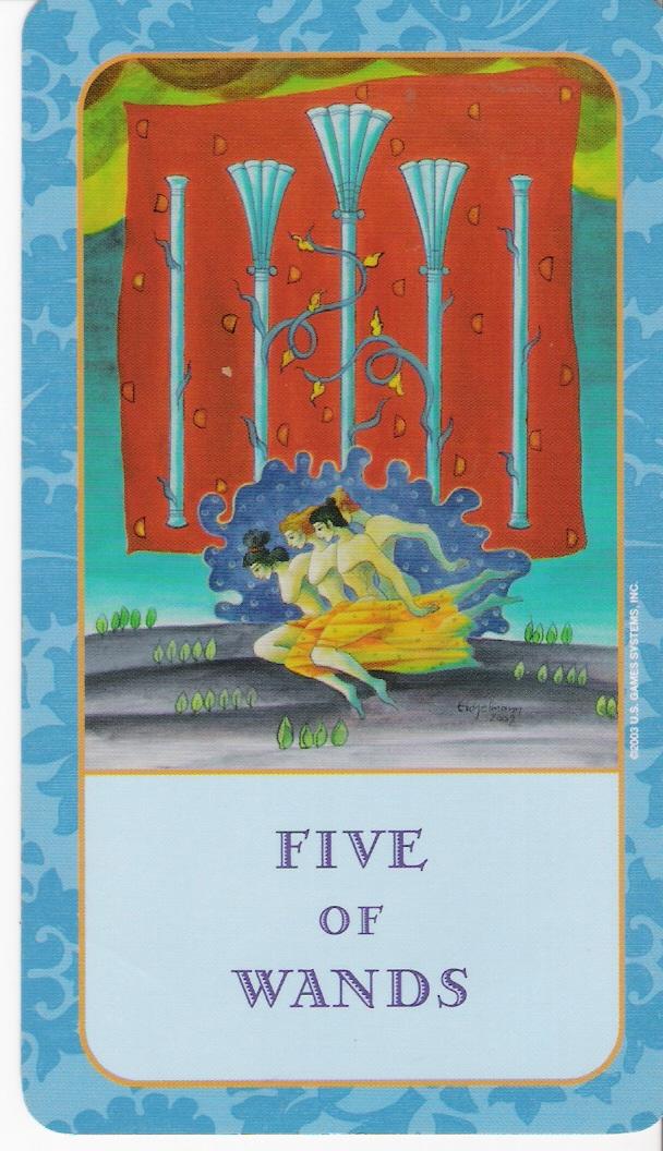 Weekly Tarot Reading I Healingtarotnet: Tarot For Thought: Daily Tarot Card: Five Of Wands
