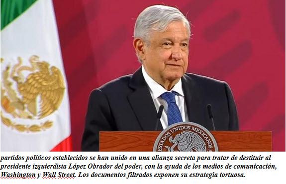 Documentos filtrados revelan complot de Oligarcas de derecha para derrocar a AMLO de México