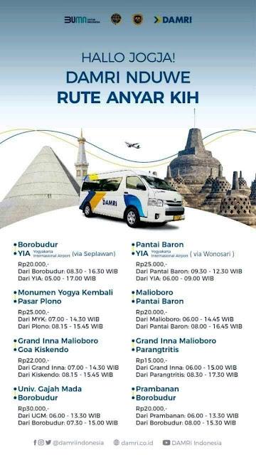 Rute baru Damri di Yogyakarta