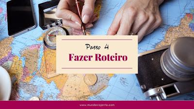 mapa mundi  colorido escrito passo 4 fazer roteiro de viagem