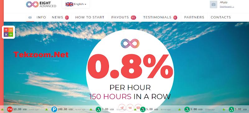 [SCAM] Review Advanced8 Top - Lãi từ 2.5% hằng ngày - Đầu tư tối thiểu 5$ - Thanh toán