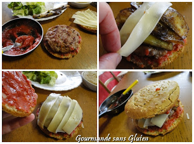 Hamburger maison sans gluten
