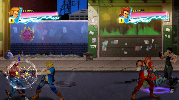 Screen Shot Of Double Dragon Neon (2014) Full PC Game Free Download At worldfree4u.com