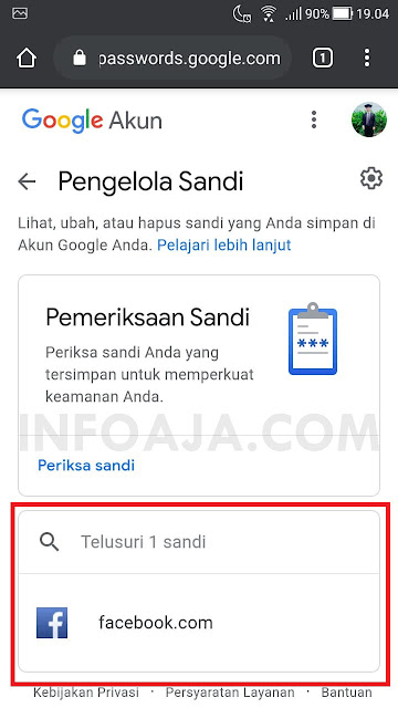 cara mengetahui password yang tersimpan di akun google