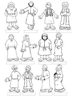 Bible Character Coloring Sheets from coloringhome.com | scriptureand.blogspot.com