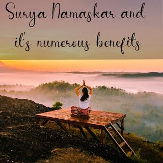 surya namaskar sun salutations and it's benefits