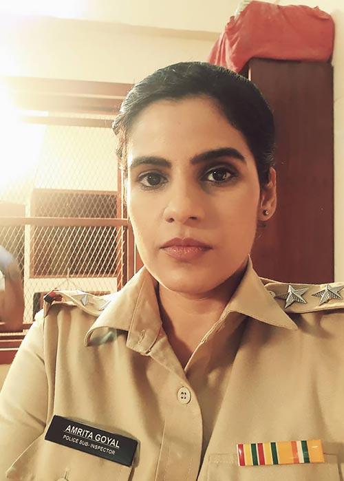 Crime Patrol actress Shashwita Sharma as inspector