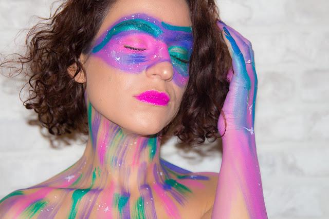 maquillage - artistique - galaxie
