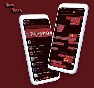 Go Prime Dark Red Theme For YOWhatsApp & Aero WhatsApp By Reh
