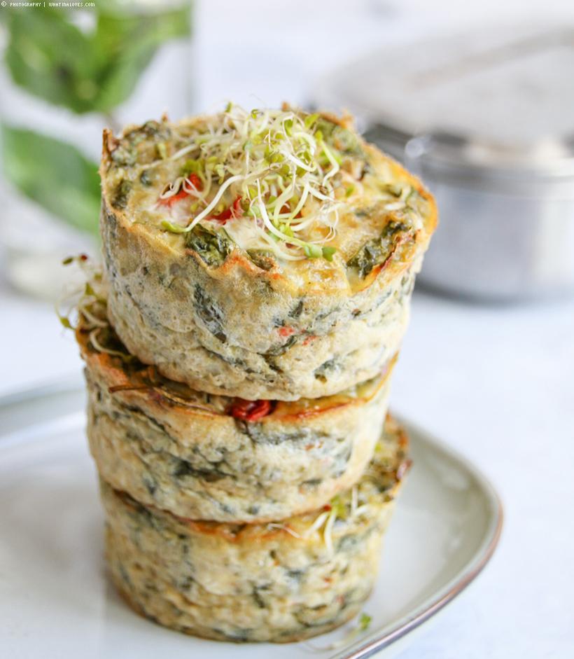 Quinoa-Spinat-Muffins
