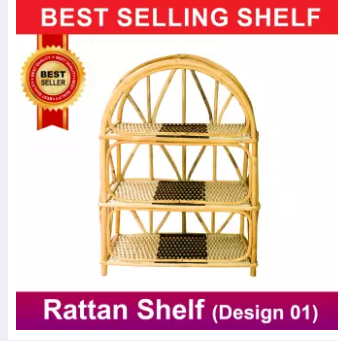Rattan Office furniture Home Decoration Handcrafted Shelf book self shoes self