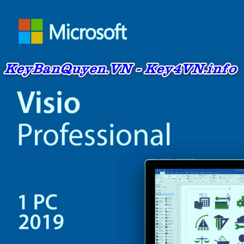 Mua bán key bản quyền Visio 2019 Pro bản quyền uy tín.
