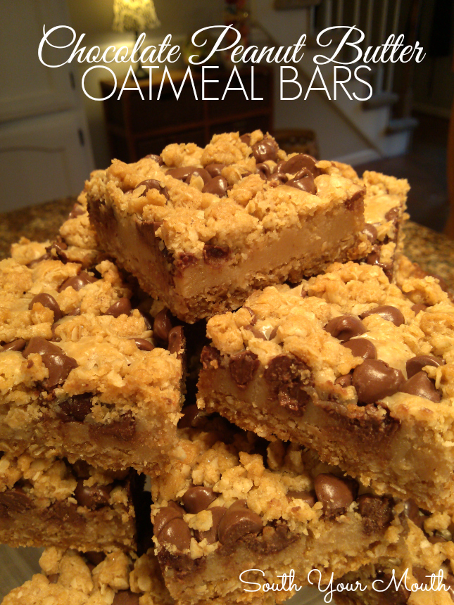 South Your Mouth Chocolate Peanut Butter Oatmeal Bars