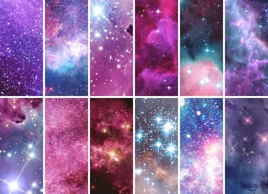 purple orange space galaxy painting - photo #11