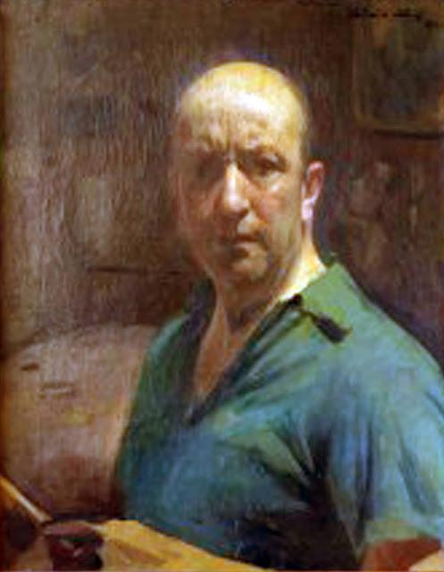 Antonio Alice, Self Portrait, Portraits of Painters, Fine arts, Portraits of painters blog, Paintings of Antonio Alice, Painter Antonio Alice